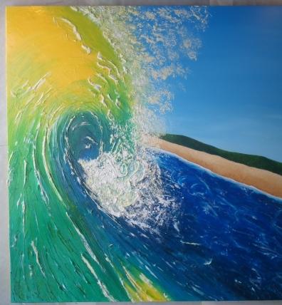 ''Lemonade beach'' 48x48