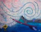 ''Surfer Crossing'' 30x24