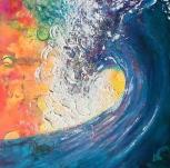 Kawanka -wave painting
