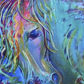 Zaz, horse painting